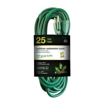 25 ft. 16/3 Heavy Duty Extension Cord, Green