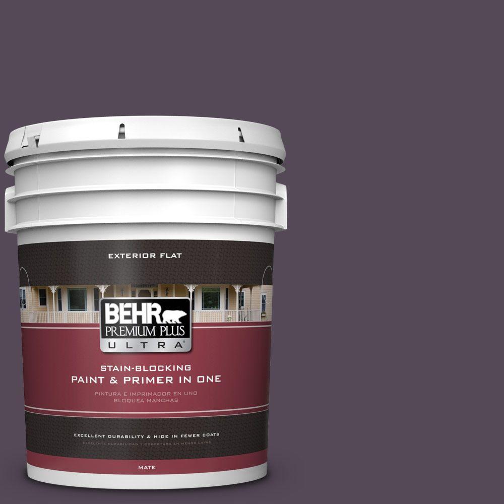 5-gal. #BXC-51 Deep Mulberry Flat Exterior Paint