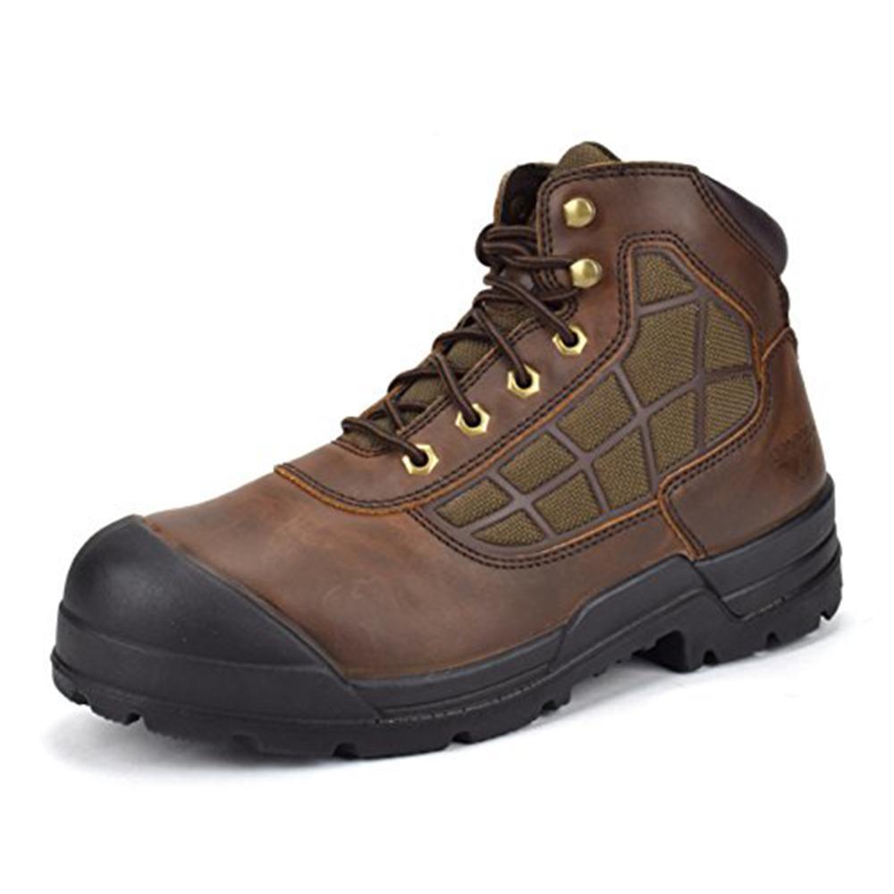 Men's 6 in. Brown 10.5 E US Steel Toe Work Boot