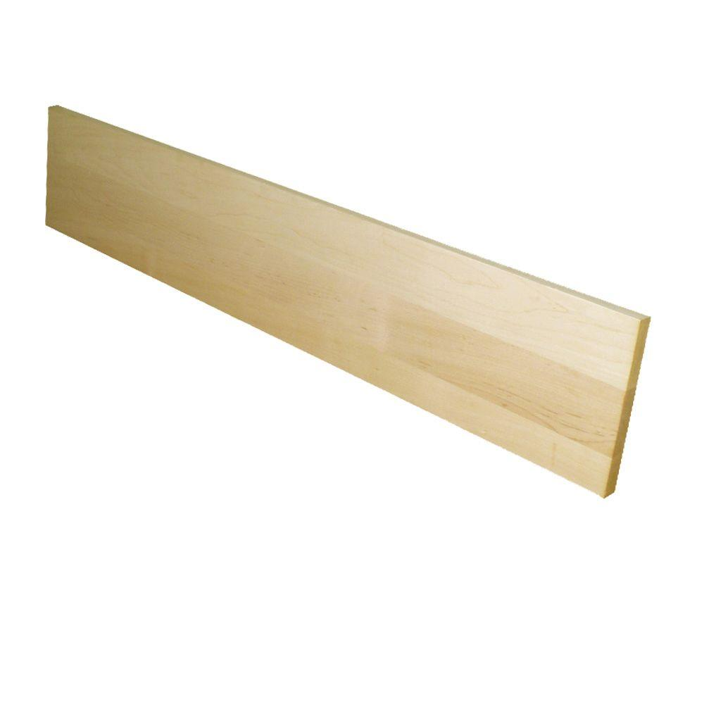Stairtek 0.75 in. x 7.5 in. x 36 in. Unfinished Maple Riser