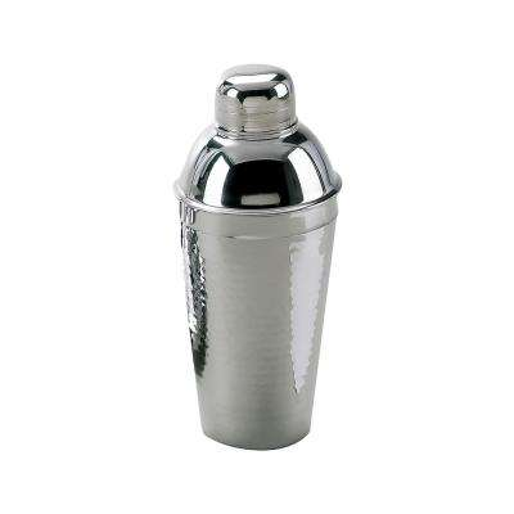Hammered Stainless Steel Coktail Shaker