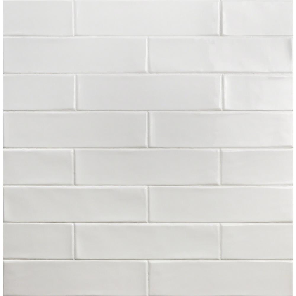 Birmingham Bianco 3 in. x 12 in. 8mm Polished Ceramic Subway Tile (5.38 sq. ft. / box)