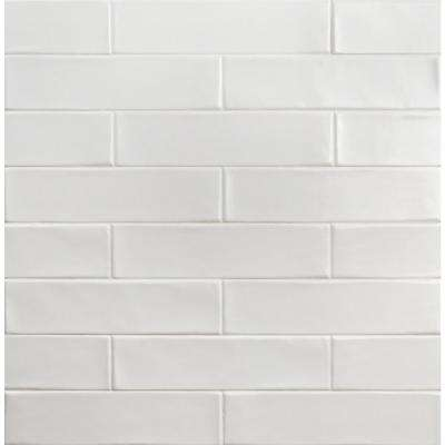 Birmingham Bianco 3 in. x 12 in. 8mm Polished Ceramic Subway Tile (5.38 sq. ft. / box)