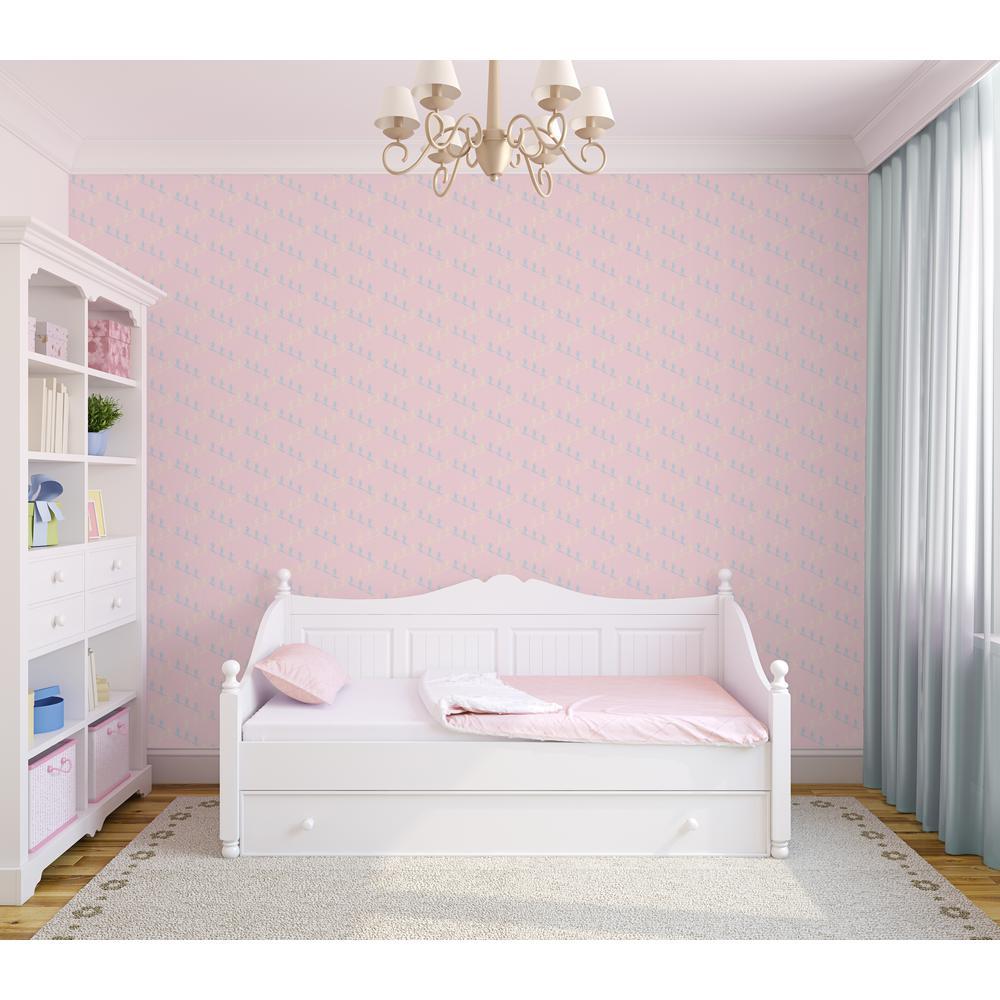 Mitchell Black Baby Collection Ski Slope In Pink Premium Matte Wallpaper