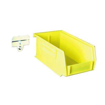 LocBin 7-3/8 in. L x 4-1/8 in. W x 3 in. H Yellow Polypropylene Hanging Bin and BinClip Kits (24-Count)