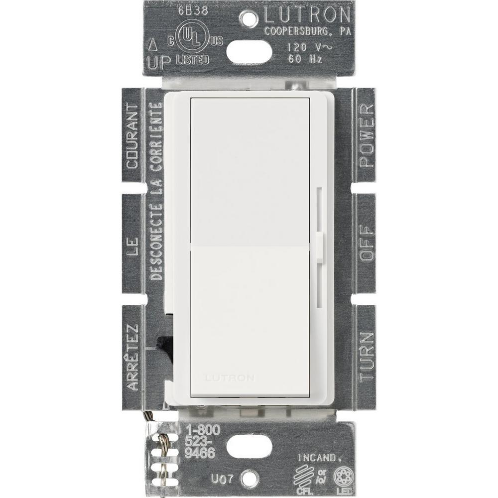 white lutron dimmers dvcl 253p wh 64_1000 lutron diva c l dimmer for dimmable led, halogen and incandescent lutron 6b38 dimmer wiring diagram at eliteediting.co