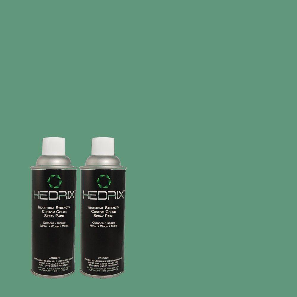 Hedrix 11 oz. Match of 2A54-5 Seascape Flat Custom Spray Paint (2-Pack)