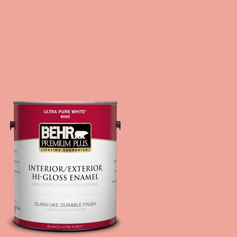 1-gal. #170D-4 Peach Tile Hi-Gloss Enamel Interior/Exterior Paint