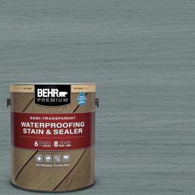 1 gal. #ST-125 Stonehedge Semi-Transparent Waterproofing Exterior Wood Stain and Sealer