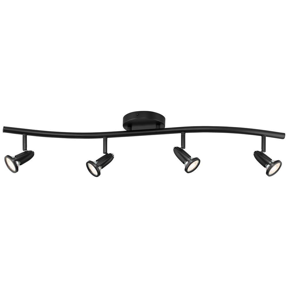 Cobra 5.5-Watt Black Hardwired Outdoor Wall Pack Light