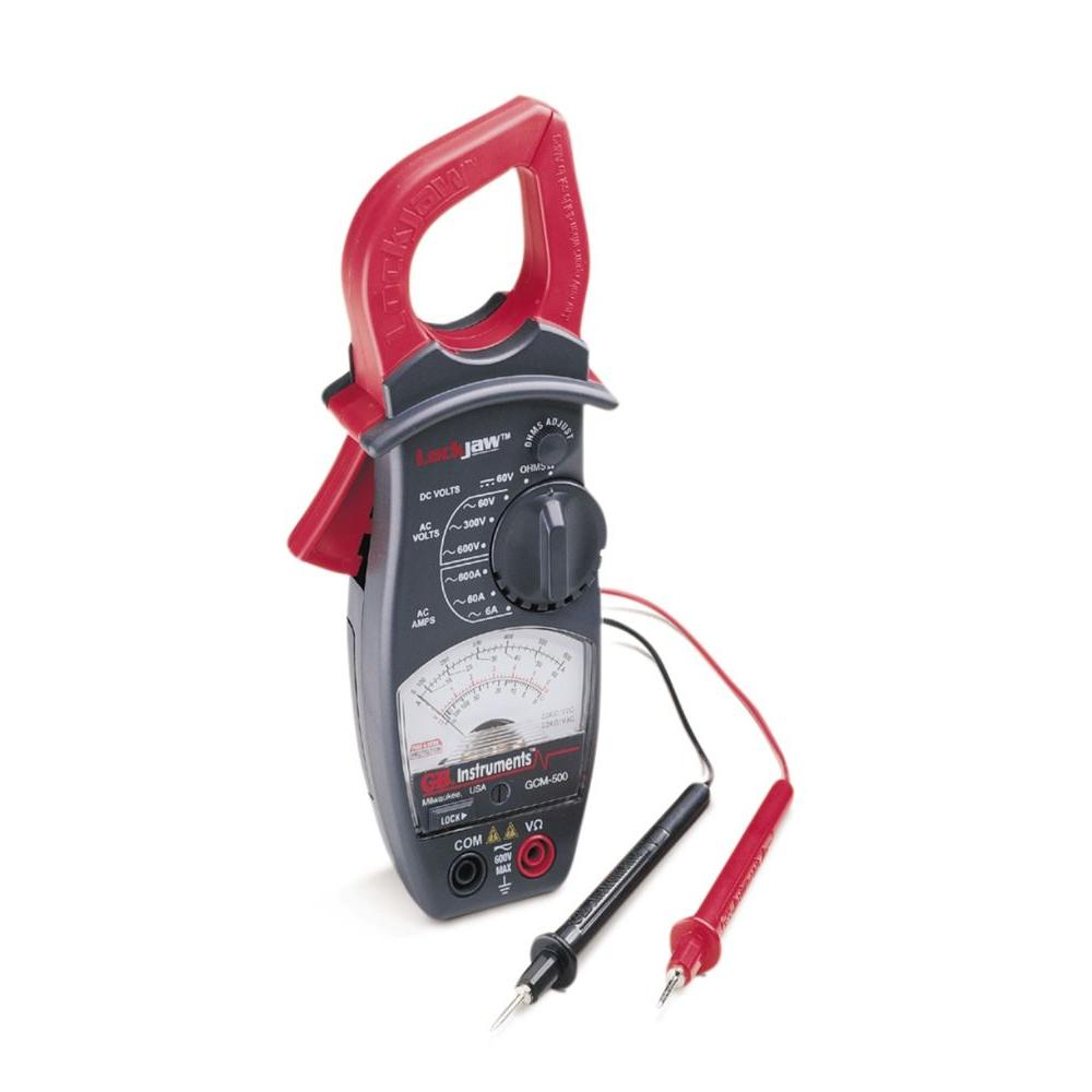Gardner Bender 600 Amp 4 Functions 8 Ranges AC ClAmp Meter with Lockjaw