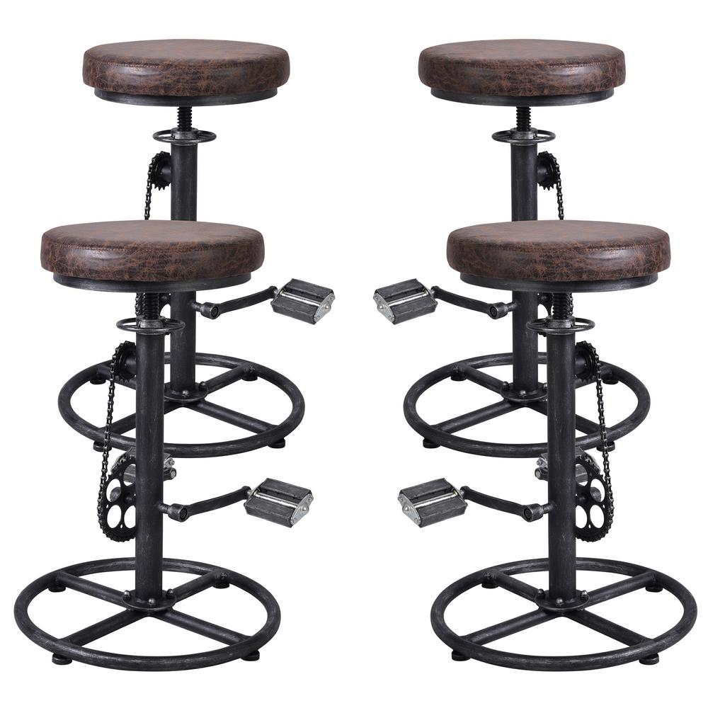 Outstanding Todays Mentality Bicycle Adjustable Brown Barstool Set Of Beatyapartments Chair Design Images Beatyapartmentscom