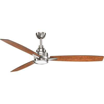 Gaze Collection 60 in. LED Brushed Nickel Ceiling Fan