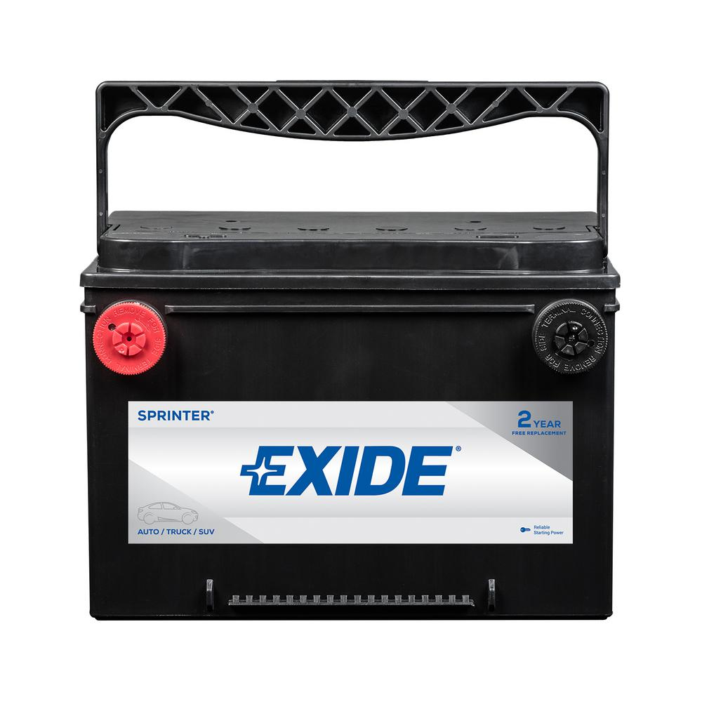 Exide SPRINTER 12 volts Lead Acid 6-Cell 78 Group Size 800 Cold Cranking  Amps (BCI) Auto Battery