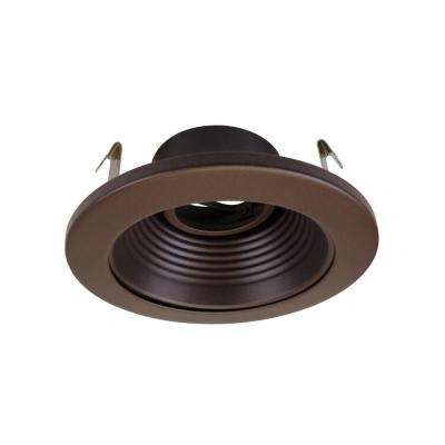 NICOR 4 in. Oil Rubbed Bronze Recessed Baffle Trim