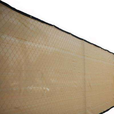 72 in. H x 300 in. W Polyethylene Tan Privacy / Wind Screen Garden Fence