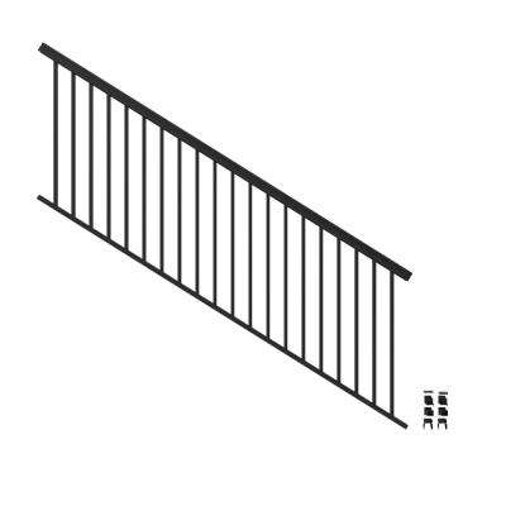 VersaRail 8 ft. x 36 in. Matte Black Aluminum Rail Stair Kit