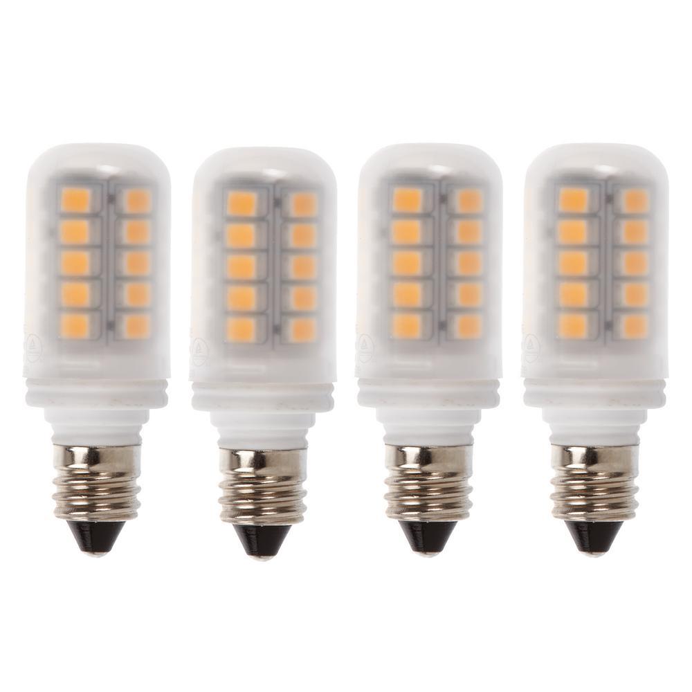 30-Watt Equivalent E12 LED Light Bulb, Warm White (4-Pack)