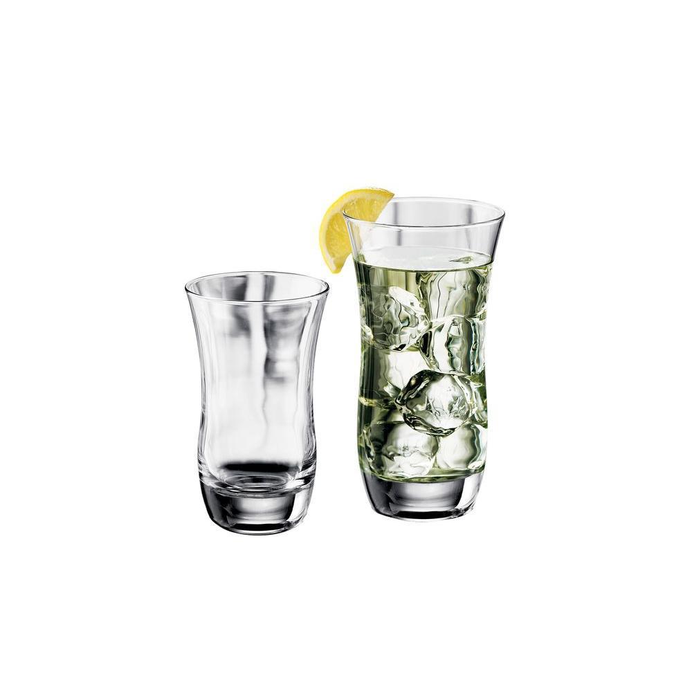 Libbey Martello 16-Piece Beverageware Set in Clear