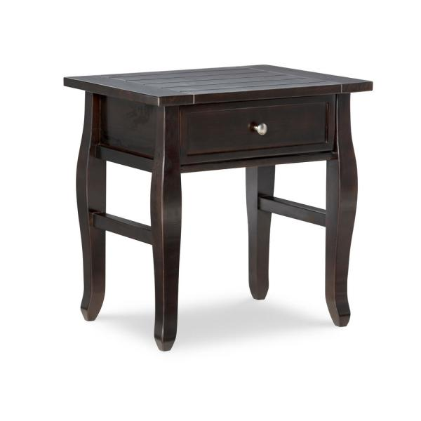 Denise Espresso 1-Drawer End Table