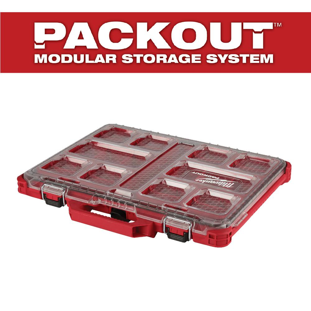 PACKOUT 10-Compartment Low-Profile Small Parts Organizer