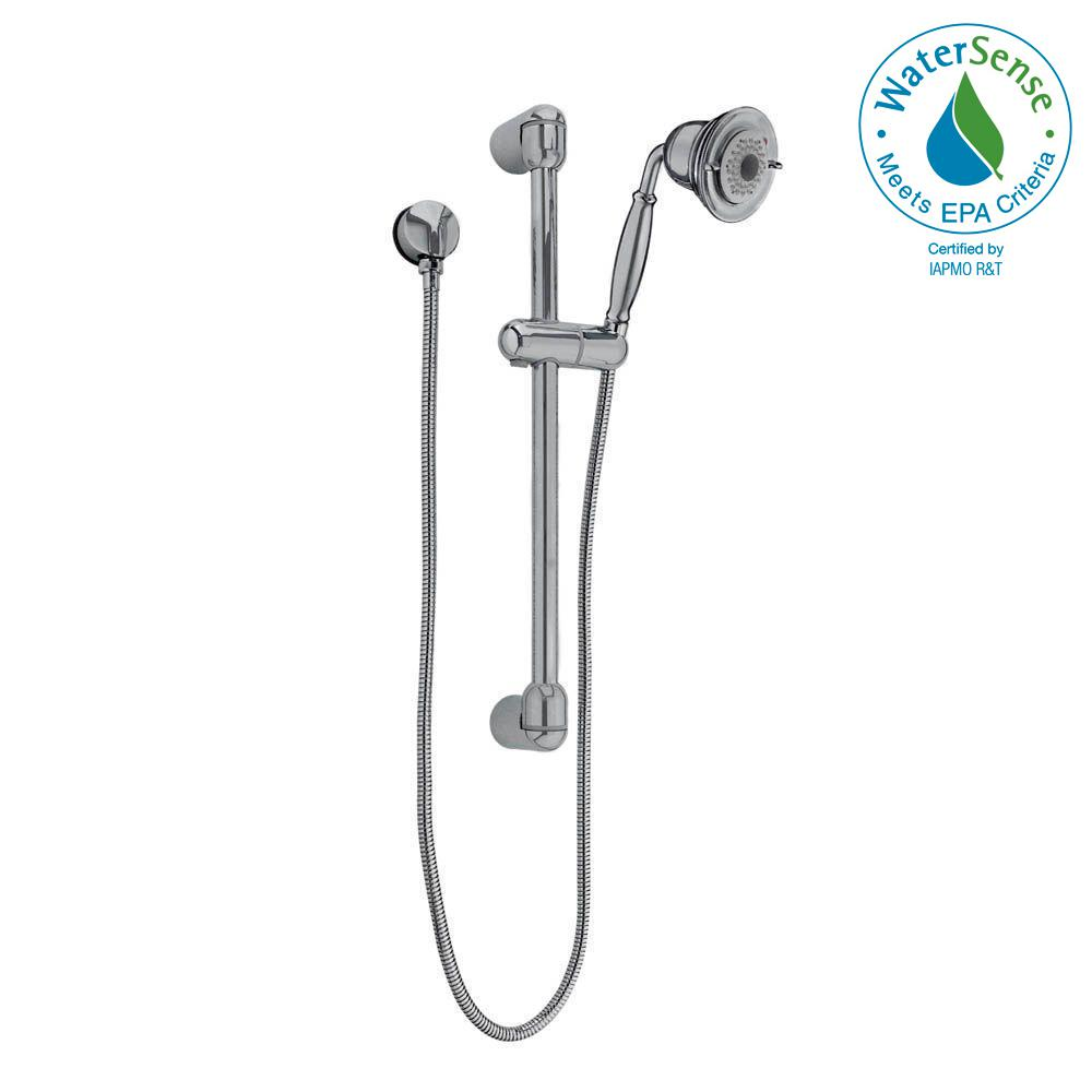 American Standard FloWise Traditional 3-Spray Wall Bar Shower Kit in Brushed Nickel