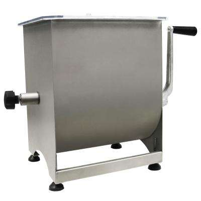 Stainless Steel Manual Meat Mixer - 44 lb Capacity
