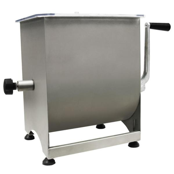 Weston Stainless Steel Manual Meat Mixer - 44 lb Capacity