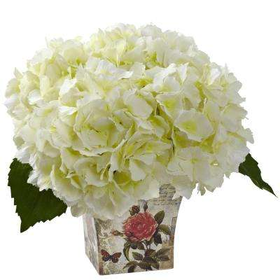 Hydrangea with Floral Planter