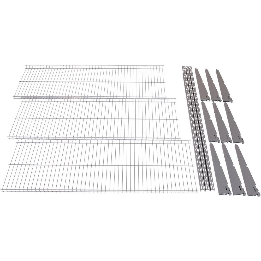 FastTrack Garage 3-Shelf 48 in. x 16 in. Wire Shelving Kit