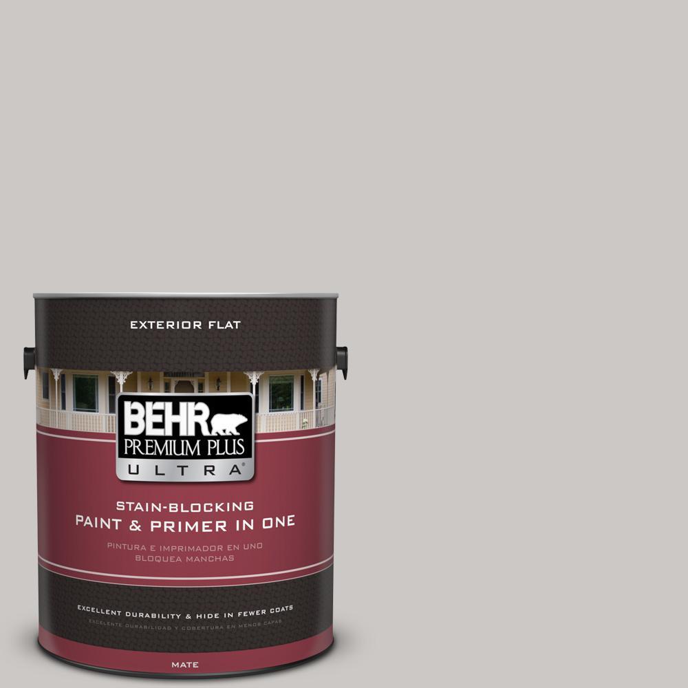 1 gal. #PPU26-09 Graycloth Flat Exterior Paint