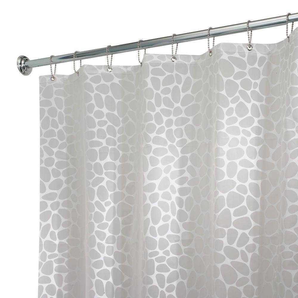 White - Vinyl - Shower Curtains - Shower Accessories - The Home Depot
