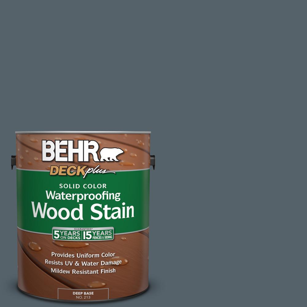 1 gal. #N490-6 Calligraphy Solid Color Waterproofing Wood Stain