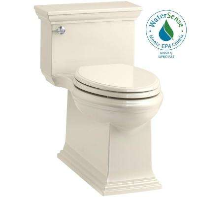 Memoirs Stately 1-Piece 1.28 GPF Single Flush Elongated Toilet in Almond (Seat Included)