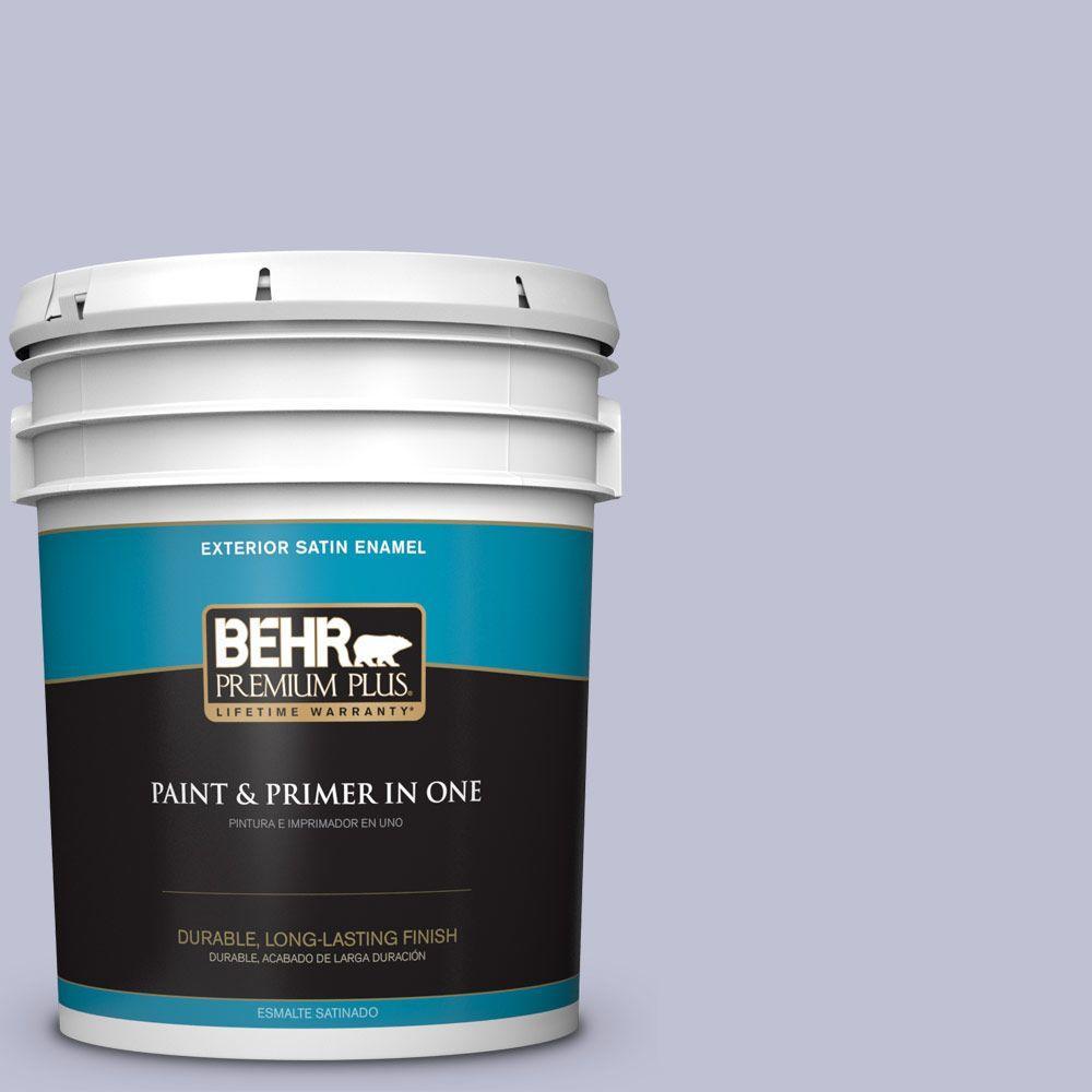 BEHR Premium Plus 5-gal. #S560-2 Lavender Honor Satin Enamel Exterior Paint