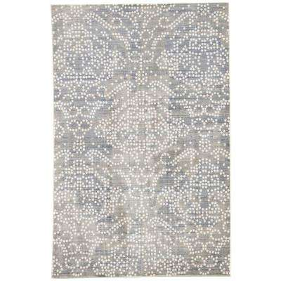 Ceres Light Purple 2 Ft X 3 Damask Rectangle Accent Rug