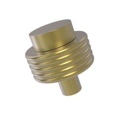 1-1/2 in. Cabinet Knob in Satin Brass