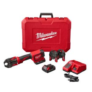Milwaukee M18 18-Volt Lithium-Ion Cordless Short Throw Press Tool Kit with PEX Crimp Jaws by Milwaukee