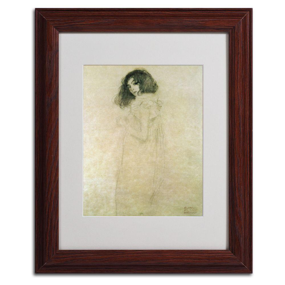 Trademark Fine Art 11 in. x 14 in. Portrait of a Young Woman, 1896-97 Matted Framed Art