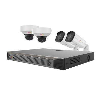 Ultra Commercial Grade 8-Channel 4K Smart IP NVR 2TB with 4x True 4K Indoor/Outdoor Motorized Lens Cameras