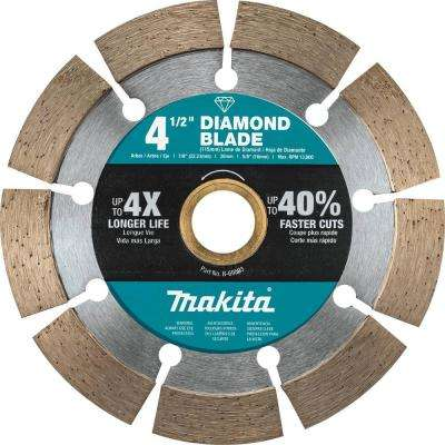 4.5 in. Segmented Rim Diamond Blade for General Purpose