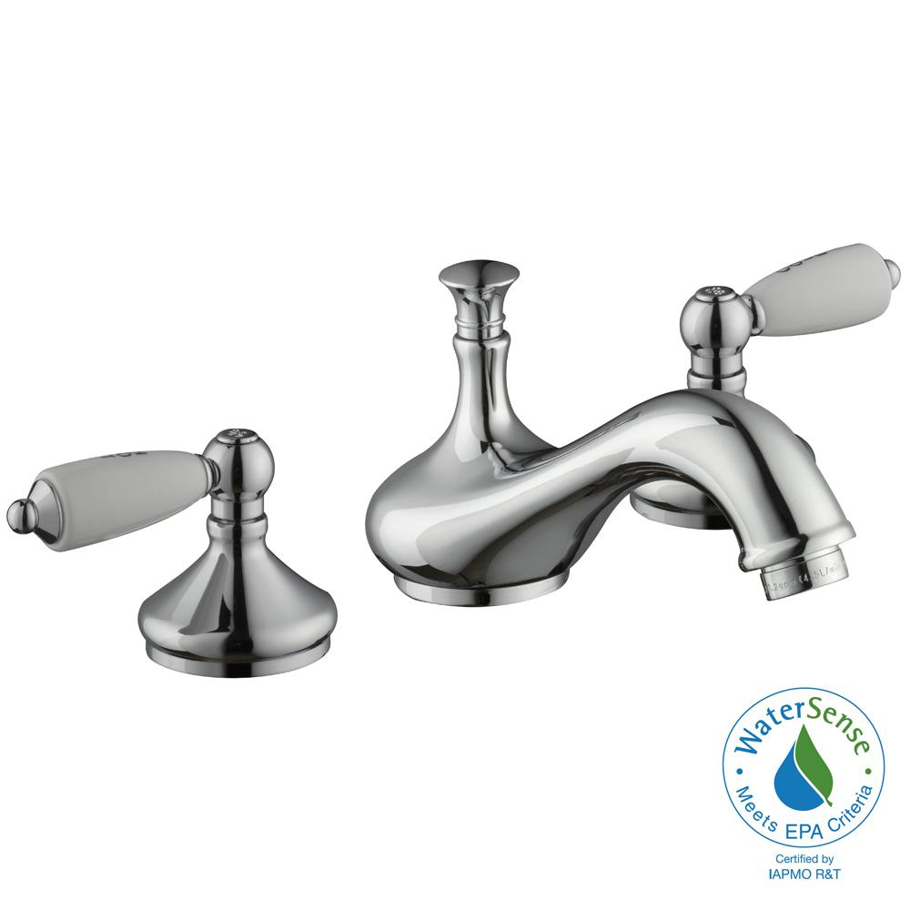Glacier Bay Teapot 8 in. Widespread 2-Handle Low-Arc Bathroom Faucet ...