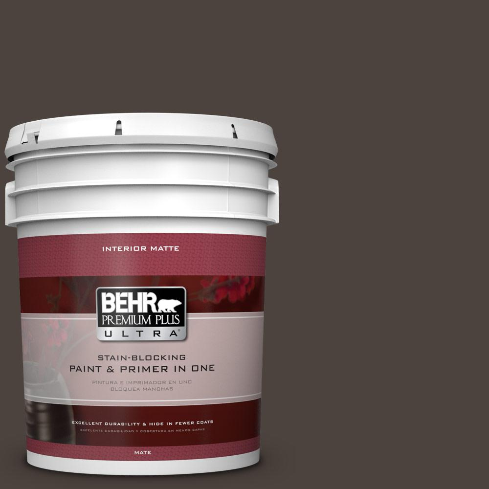 5 gal. #ECC-41-2 Willow Wood Flat/Matte Interior Paint