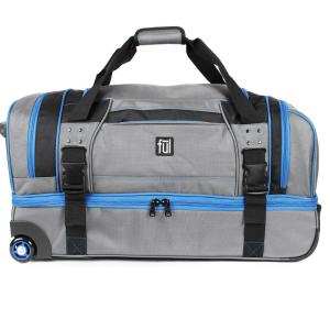 Deals on Streamline 30 in. Grey Soft Rolling Duffel Bag