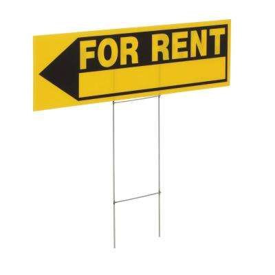 6 in. x 24 in. Plastic for Rent Sign