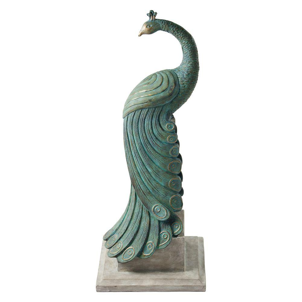 Garden Statues Home Depot: Bombay Outdoors Royal Peacock Patio Statuary-A004519-999A