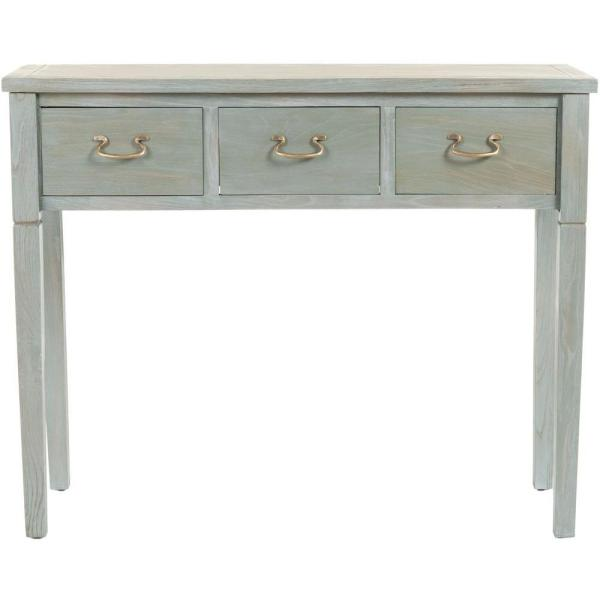 Cindy French Gray Storage Console Table
