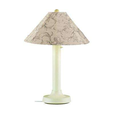 Catalina 34 in. Bisque Outdoor Table Lamp with Bessemer Shade