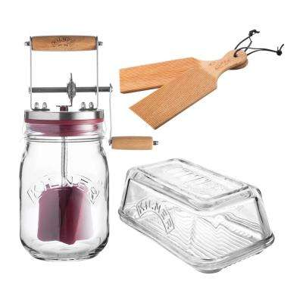 Butter Churning Glass Set