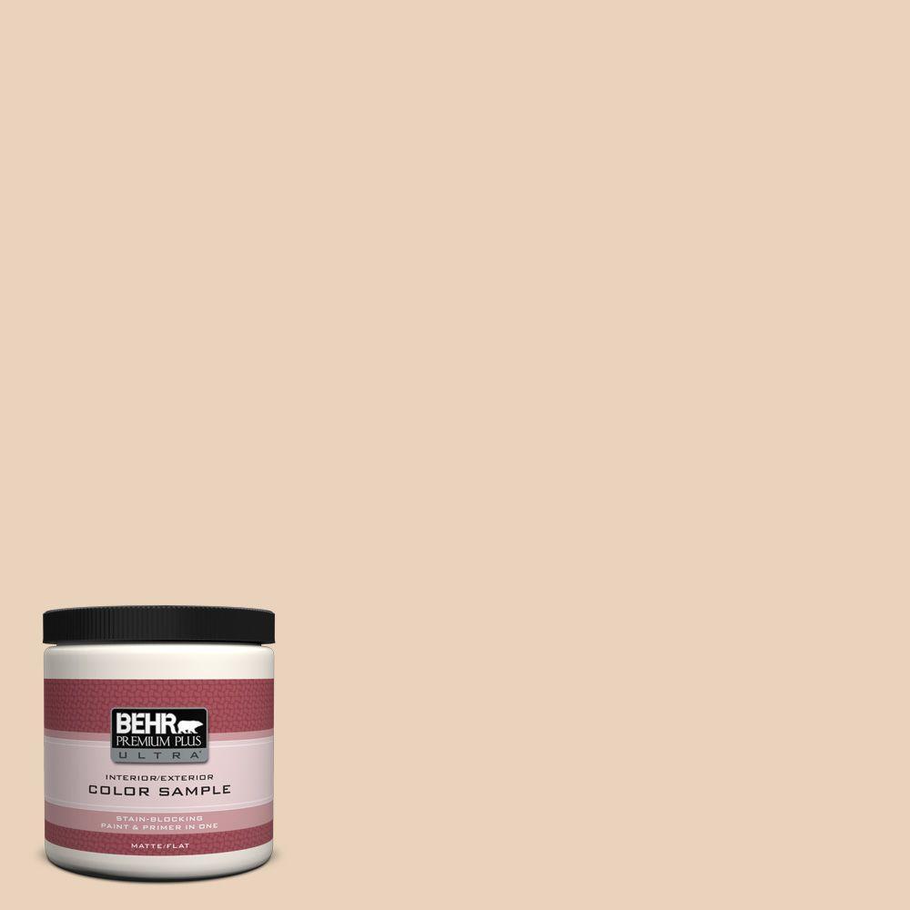 BEHR Premium Plus Ultra 8 oz. #T14-2 South Peach Flat/Matte Interior/Exterior Paint Sample